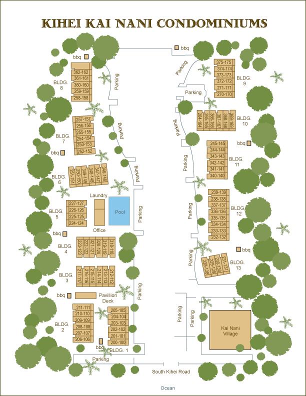 Kihei Kai Nani condo information grounds maps amenities