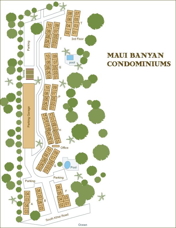 Maui Banyan Condo Information Grounds Maps Amenities